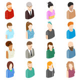 Avatars set icons Royalty Free Stock Image