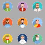 Avatars set. The set of avatars people. Vector illustration Vector Illustration