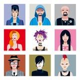 avatars ställde in stammar stads- Fotografering för Bildbyråer
