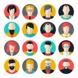Avatars stylisés de personnes de caractère Photos libres de droits