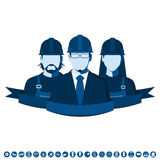 Avatars of technical service employees Royalty Free Stock Images