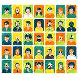 Avatars and user pics for website Royalty Free Stock Photography