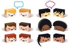 Avatars van de diversiteit, vector Stock Afbeelding