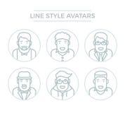 Avatars van de mensenlijn Stock Fotografie