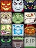 Avatars van Halloween Royalty-vrije Stock Fotografie