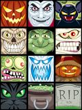 Avatars van Halloween royalty-vrije illustratie