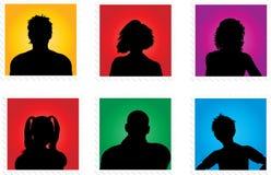 Avatars van mensen Royalty-vrije Stock Afbeeldingen