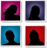 Avatars van mensen Stock Afbeeldingen