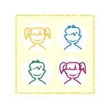 Avatarsbarn för registrering numret av deltagare i leken royaltyfri illustrationer