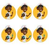 Avatarssjuksköterskor royaltyfri illustrationer