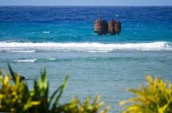 Avatiu港在拉罗通加-库克群岛 库存照片