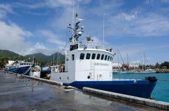 Avatiu -拉罗通加,库克群岛海岛港  免版税库存照片