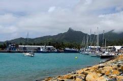 Avatiu -拉罗通加,库克群岛海岛港  免版税库存图片
