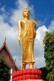 Avbilda av Buddha i tempelet Royaltyfri Foto