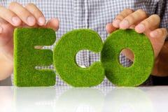 Eco alfabetbegrepp Royaltyfri Bild