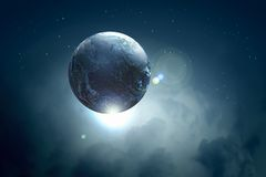 Avbilda av jordplanet i utrymme Royaltyfri Foto