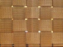 Avbilda av korsad brun bomull som vävas, fodrar den seamless textilen arkivbilder
