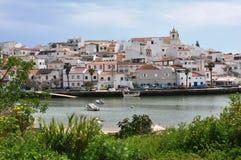 Ferragudo Algarve, Portugal, Europa Royaltyfria Foton
