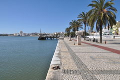 Hamn av Portimao, Algarve, Portugal, Europa Arkivbilder