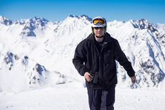 Skier med kikare Arkivbilder