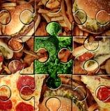 Avbrott av dåliga matvanor Arkivbild