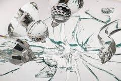 Avbrott av kristallen Arkivbilder