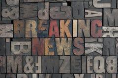 avbrott av nyheterna Royaltyfri Fotografi