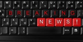avbrott av nyheterna Arkivbild