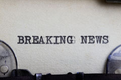 avbrott av nyheterna Fotografering för Bildbyråer