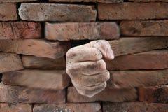 avbrott av väggen Royaltyfri Foto