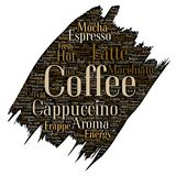 Avbrott för kaffe för Vectorhot morgon italienskt, cappuccino Royaltyfri Foto