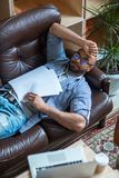 Avbrott för sömn royaltyfri bild