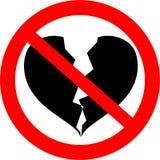 avbrott förbjuden hjärta till Royaltyfri Fotografi