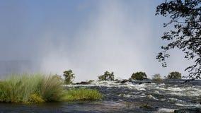 Avbrotts-avkanten av Zambeziet River royaltyfria bilder