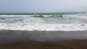 Avbrottsvågor på stranden stock video