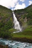 Avdalsfossen, Norway, Jotunheimen  National Park. Royalty Free Stock Images