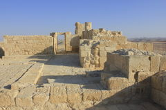Avdat罗马村庄的宫殿 免版税库存照片