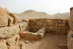Avdat - the city of Nabateev. Avdat - the central city of the Nabateans was on the trade route, called the Road of Incense Royalty Free Stock Photography
