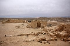 Avdat - the city of Nabateev. Avdat - the central city of the Nabateans was on the trade route, called the Road of Incense Stock Photos