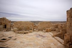 Avdat - the city of Nabateev. Avdat - the central city of the Nabateans was on the trade route, called the Road of Incense Stock Image