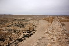 Avdat - the city of Nabateev. Avdat - the central city of the Nabateans was on the trade route, called the Road of Incense Royalty Free Stock Photo