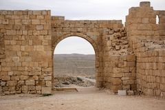 Avdat - the city of Nabateev. Avdat - the central city of the Nabateans was on the trade route, called the Road of Incense Stock Photo