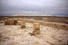 Avdat - the city of Nabateev. Avdat - the central city of the Nabateans was on the trade route, called the Road of Incense Royalty Free Stock Image