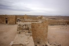 Avdat - the city of Nabateev. Avdat - the central city of the Nabateans was on the trade route, called the Road of Incense Royalty Free Stock Images