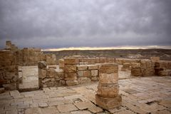 Avdat - the city of Nabateev. Avdat - the central city of the Nabateans was on the trade route, called the Road of Incense Stock Images