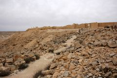 Avdat - the city of Nabateev. Avdat - the central city of the Nabateans was on the trade route, called the Road of Incense Stock Photography