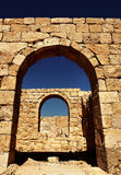 Avdat entrance. Ruins of the Nabatean city of Avdat, Israel Stock Image