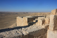 Avdat. Ruins of old city Avdat in Israel Royalty Free Stock Images