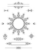 Avdelare för prydnaddesignbeståndsdelar Royaltyfri Bild