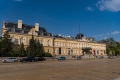 Avdelning av den nationella konstgallerit och Etnographic museet i tidigare konungslott i Sofia Bulgaria Slotten byggdes i 1880 ? royaltyfri bild